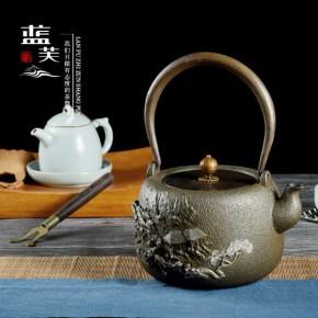 蓝芙 铁壶 镶嵌铸铁煮茶器电陶茶炉铸铁壶茶客忆品