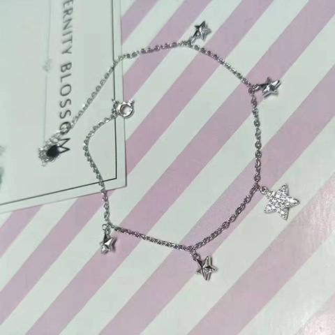 亚西亚银饰批发-新款五角星脚链,925银饰批发
