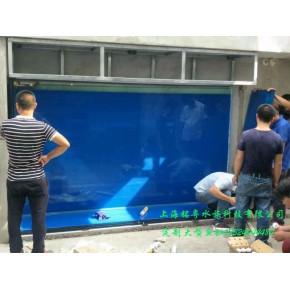 御翠园别墅定制户外超白玻璃观赏水族箱