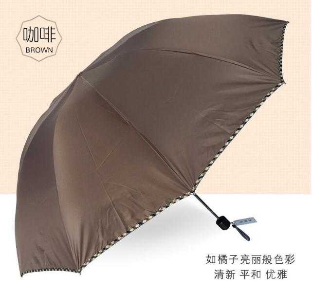 天堂伞商务伞男女折叠三折晴雨伞礼品伞图3