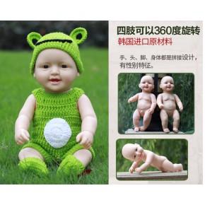 說話仿真嬰兒玩具軟膠洋娃娃家政早教培訓嬰兒教具