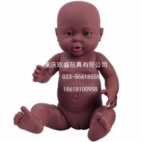 新品搪胶塑料仿真婴儿玩具娃娃家政培训假娃娃模型