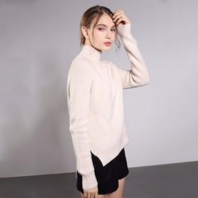 高领毛衣套头冬季新款纯色针织衫修身长袖打底衫女