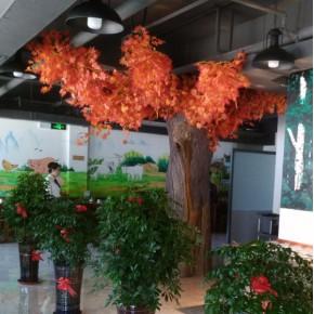 生态园酒店仿真植物墙设计制作