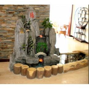 关于真石与塑石假山喷泉的优势佳木斯室内景观雕塑