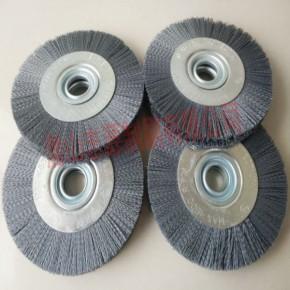 磨料丝轮刷 进口碳化硅磨料丝抛光打磨压片式抛光轮