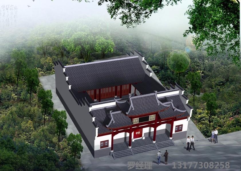 古建祠堂,仿古农村宗祠,祖堂设计施工