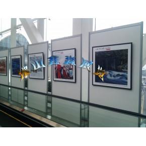 八棱柱背景墙,屏风隔断展架,展览隔墙材料厂