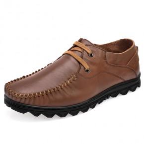 头层真皮潮男式时尚休闲皮鞋子