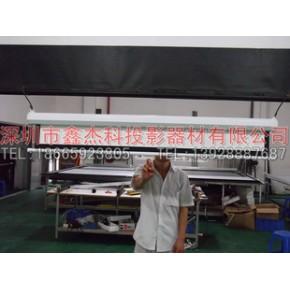 深圳工厂供应100寸手动白投影幕 投影机幕布/投影幕/投影仪投影幕