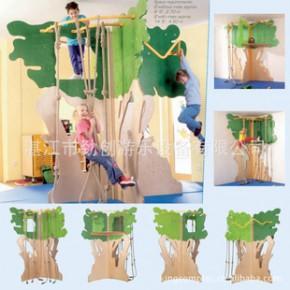 室内攀岩墙,攀爬架,拓展训练器材--攀爬树