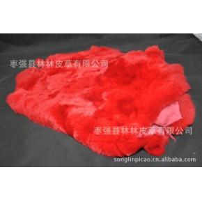 彩色獭兔皮整张原料护膝专用皮草兔毛可做手机壳DIY