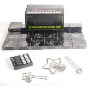 3C认证益智解环玩具九连环智力扣24件套礼盒装益智解环套装