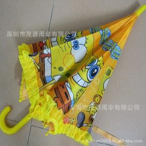 深圳雨伞厂生产卡通直杆自动儿童太阳伞加工定做童伞