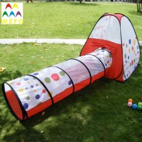 2013五洲风情628带爬行筒宝宝帐篷游戏屋批发 户外室内儿童帐篷