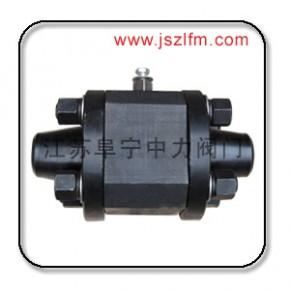 三段式高压对焊球阀,Q61N对焊式高压锻钢球阀