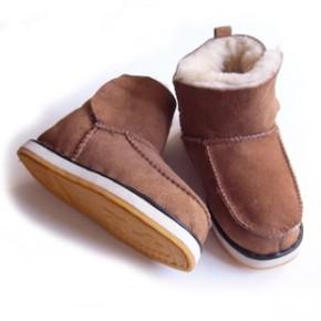 断码库存处理18码儿童宝宝羊皮毛一体雪地靴抛售厂家直销冬天棉鞋