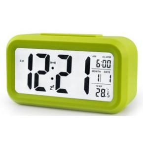创意闹钟 超大屏幕电子钟 智能夜光钟 聪明钟 带温度计 静音