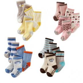 爆款多尺码多花型加厚款精梳棉材质儿童毛圈袜