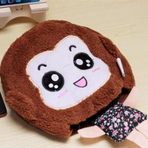 冬之暖 新款情侣超可爱卡通鼠标垫 usb鼠标垫 暖手垫 带护腕 猴姑