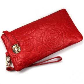加工 代理 玫瑰纹真皮手包 手拿包 零钱包 晚宴包 女包 手包