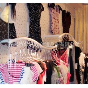 服装店货架新款多用展示架S形上墙架侧挂臂挂服装侧挂