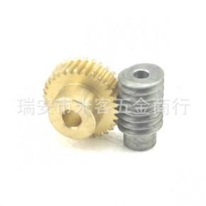 现货1.0m20齿速比1:20涡轮蜗杆变速箱减速加工铜蜗轮丝杆升降传动