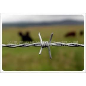 普通拧带刺铁丝barbed wire,两股四刺,出口中东,质量稳定