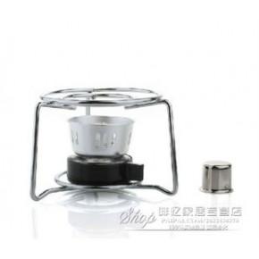 不锈钢圆架+酒精灯 摩卡壶专用加热器具