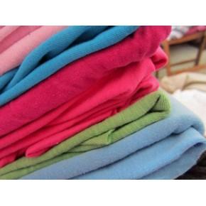 双面针织布头,针织纯棉布头,春夏秋恤衫布料,儿童成人秋衣布料