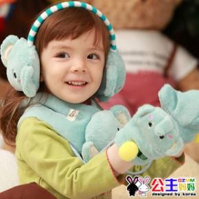 清仓特价 公主妈妈新款可爱宝宝韩版儿童耳套围巾手套单件的价格