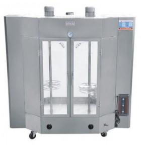24#电、燃气烤鸭炉 烧烤炉 旋转式烤鸭炉中空玻璃