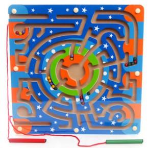 环形轨道磁性迷宫 运笔搬运迷宫 开发儿童智力滑珠子游戏