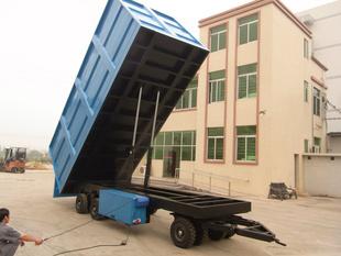 订做20T大型自卸式平板拖车 广东订做平板拖车