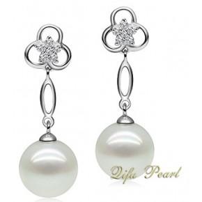 新娘珍珠耳环--HE110917