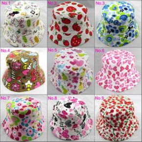 2013新款24款花朵款儿童防紫外线太阳帽批发阳光气质休闲儿童帽