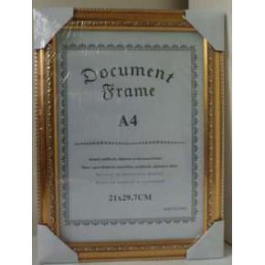 a4相框礼品拼图A4荣誉证书PS发泡仿实木高分子壁挂文件不含运费