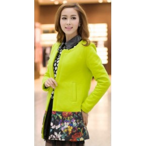 韩版秋冬新品 时尚修身保暖长袖长款女士外套