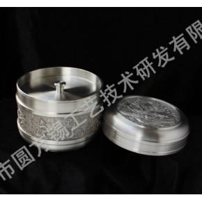 純锡工艺礼品锡制茶叶罐密封罐