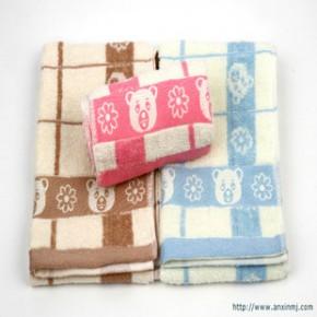 毛巾处理面巾生产销售情侣毛巾礼品毛巾提花毛巾卡通100克