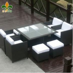 户外家具-仿藤桌椅