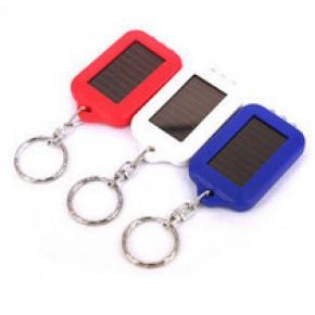 爆款3led灯迷你太阳能小手电 钥匙扣 强光远射照明电筒
