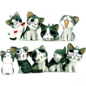 起司猫 挂件 可爱手机链 情侣韩国手机链(9款随机)
