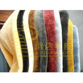 源头货源 供应羊剪绒整张羊皮加工染色