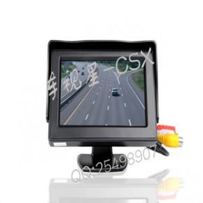 4.3寸全新车载显示器 遮阳倒车显示 倒车雷达后视镜 车载DVD显示