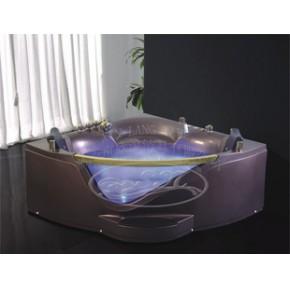 经典按摩缸系列SD-290A金色龙头彩灯泡泡浴扇形双人按摩缸/水件缸