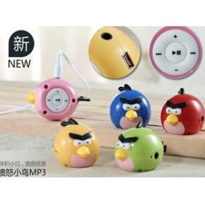 新款可爱 愤怒的小鸟卡通MP3播放器 时尚迷你插卡MP3