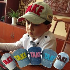 TAKE成人儿童鸭舌帽韩国男童女童牛仔帽子宝宝帽亲子帽韩版潮