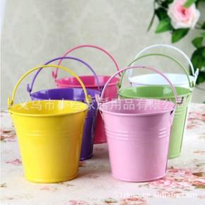 火爆!小花器 小花桶 玩具桶 铁皮桶 百搭迷你糖果色小铁桶