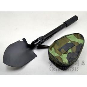 小号兵工铲 可折叠多功能工兵铲/锹/镐 带指南针 户外用品